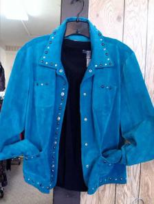 Velour Jacket with rhinestone trim